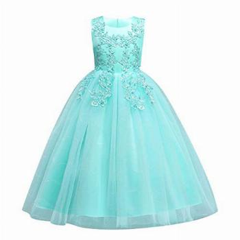 Flower Girls Vintage Embroidery Sequin Lace Wedding Dress