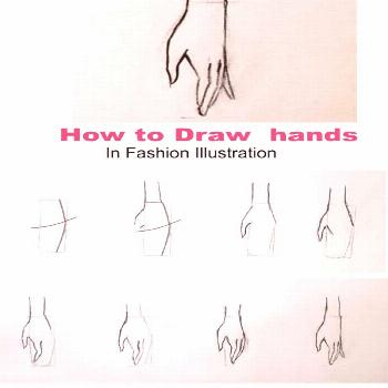 Learn how to draw hands for a fashion figure. This is easy tutorial for drawing hand