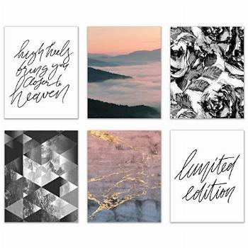 Limited Edition Abstract Fashion Prints - Set of 6 (8x10)