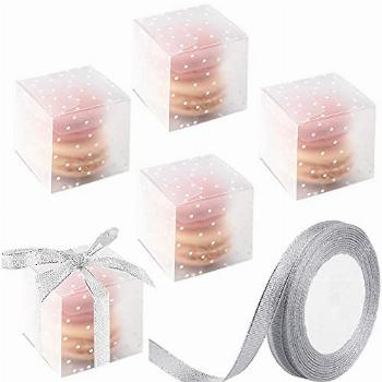 Ocmoiy Matte Clear Boxes for Favor 2 x 2 x 2 Inches with