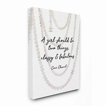 Stupell Industries Classy and Fabulous Fashion Quote with